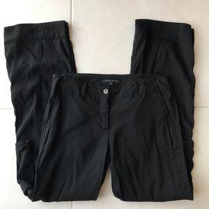 Theory Black Linen Blend Cargo Pants P101